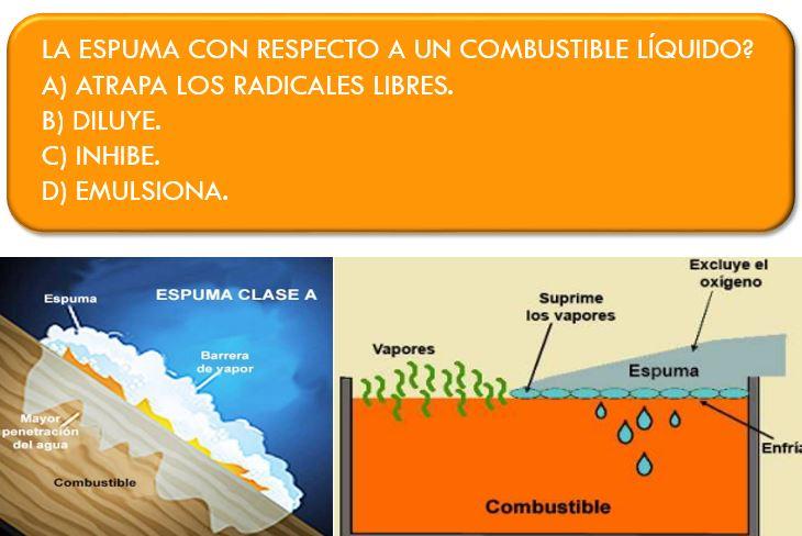 REACCION ESPUMA COMBUSTIBLE LIQUIDO