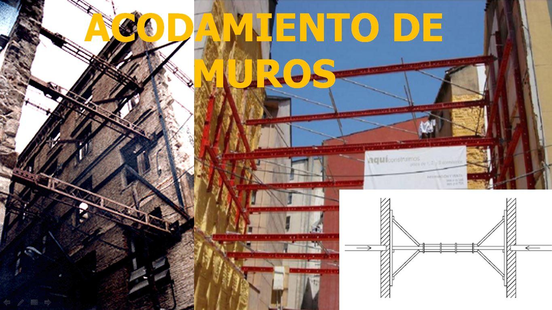 ACODAMIENTO DE MUROS