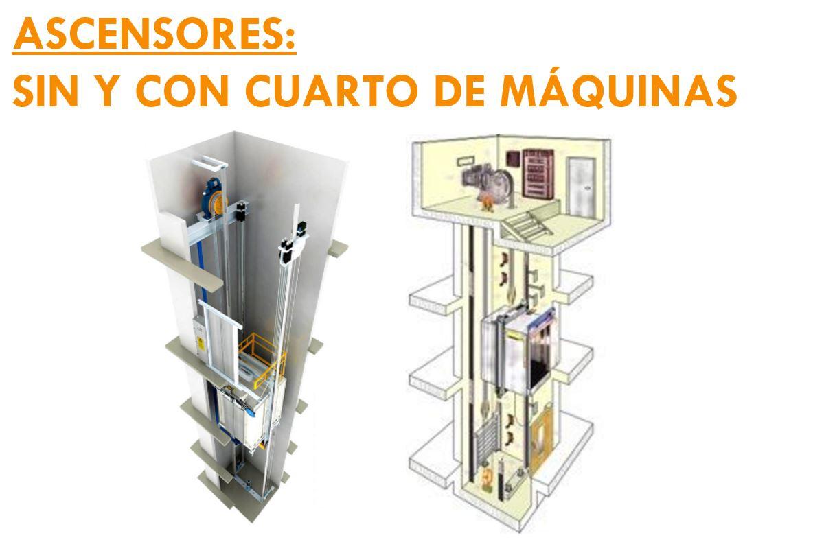 ASCENSORES SIN Y CON CUARTO DE MAQUINA