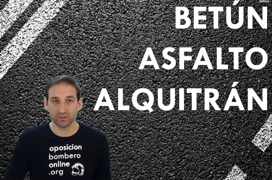 BETUN ASFALTO ALQUITRAN