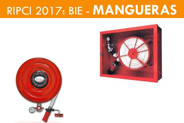 BOCAS DE INCENDIOS EQUIPAS MANGUERAS RIPCI 2017.
