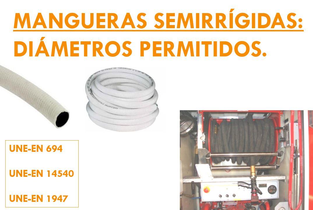 DIAMETROS MANGUERAS SEMIRRIGIDAS