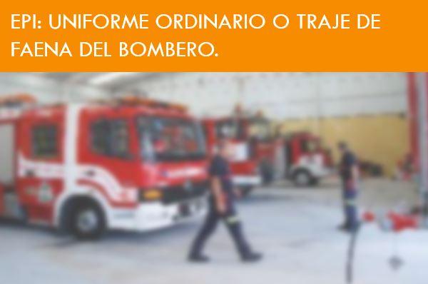 TRAJE DE TRABAJO DEL BOMBERO