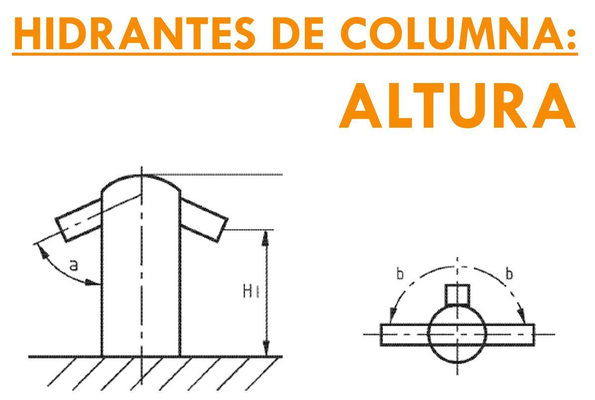 HIDRANTES DE COLUMNA ALTURA