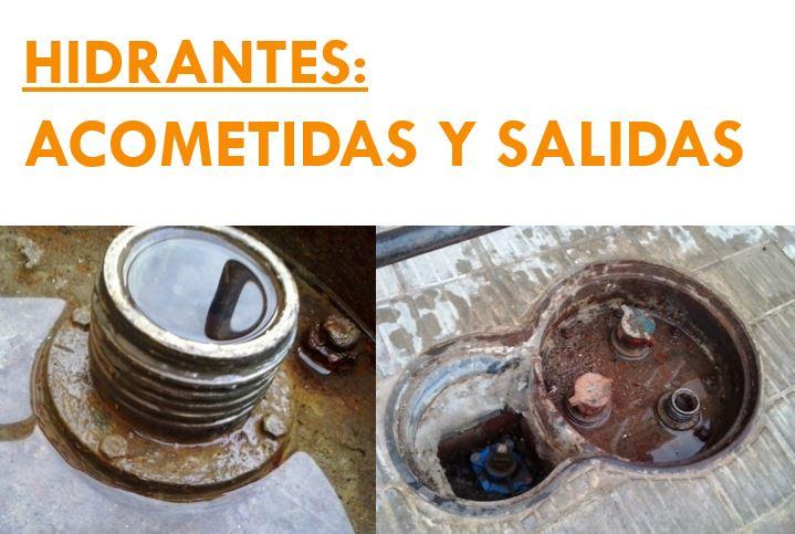 HIDRANTES ACOMETIDAS SALIDAS