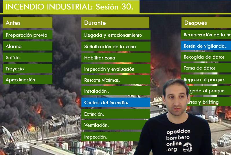 TIPOS DE EXAMENES A DESARROLLAR INCENDIOS INDUSTRIALES